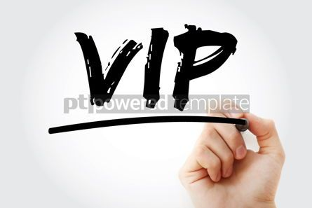 Business: VIP - Very Important Person acronym with marker concept backgro #18271