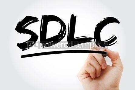 Business: SDLC - System Development Life Cycle acronym with marker busine #18283
