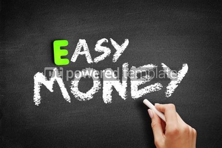 Business: Hand writing Easy Money on blackboard concept background #18338