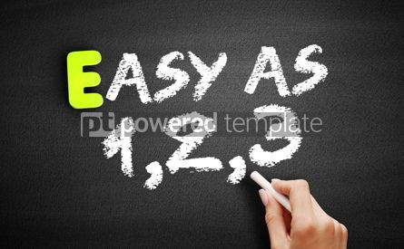 Business: Hand writing Easy as 1 2 3 on blackboard business concept backg #18342