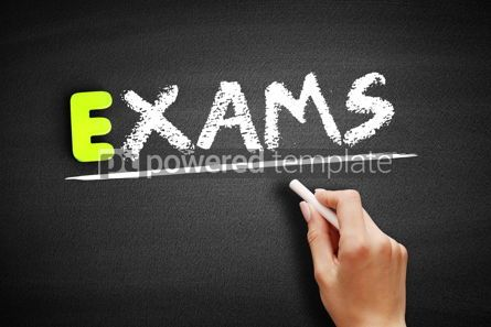 Business: Hand writing Exams on blackboard business concept background #18357