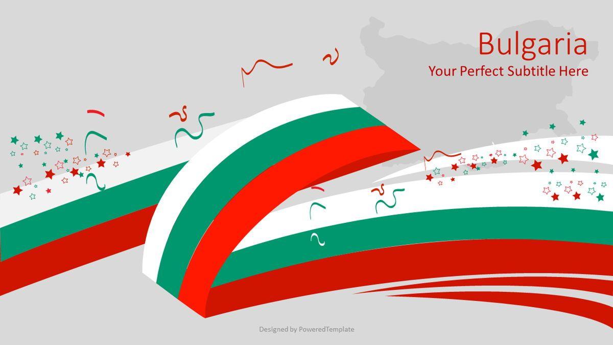 Festive Flag of Bulgaria, 08824, Flags/International — PoweredTemplate.com