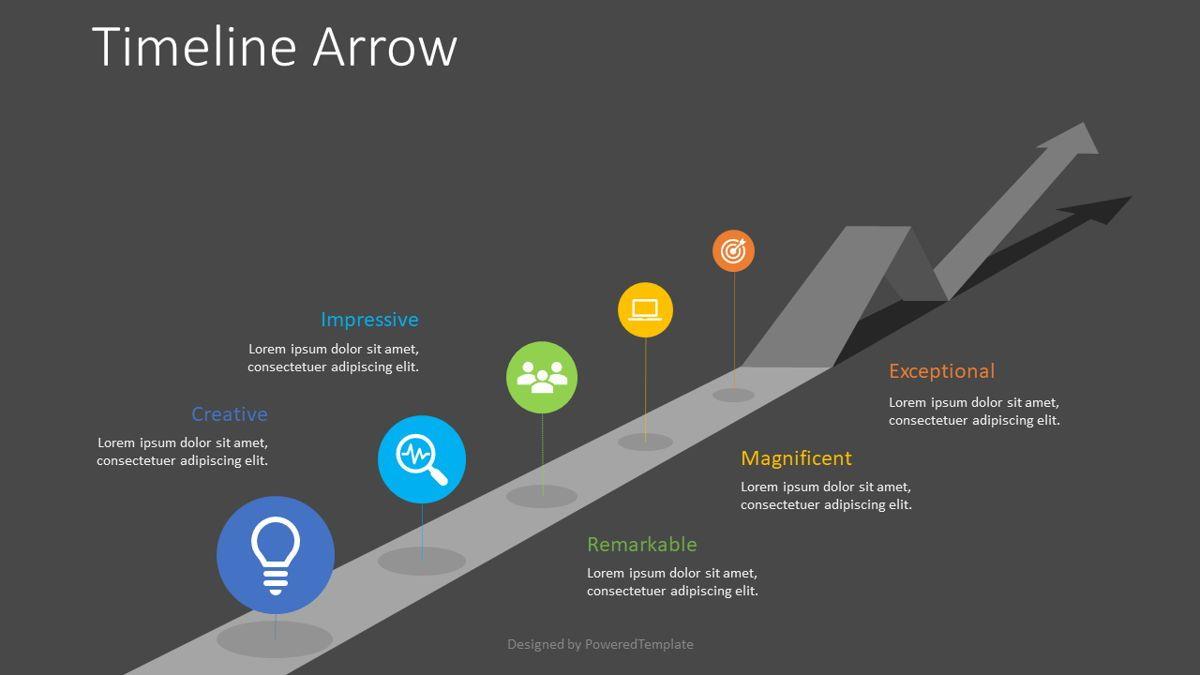 Timeline Arrow Infographic, Slide 2, 08825, Business Concepts — PoweredTemplate.com