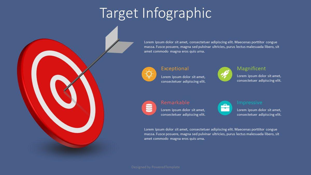 Target Hit Infographics, Slide 2, 08827, Business Concepts — PoweredTemplate.com
