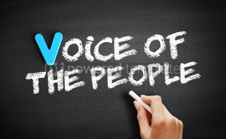 Business: Hand writing Voice of the people on blackboard concept backgrou #18377