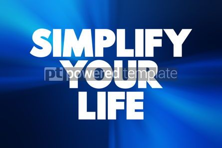 Business: Simplify Your Life text concept background #18408