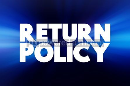 Business: Return Policy text quote concept background #18428