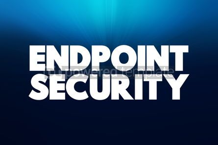 Business: Endpoint Security text quote concept background #18434