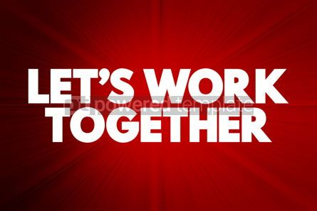 Business: Let's Work Together text quote concept background #18438