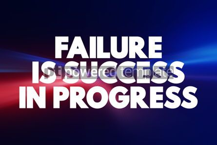 Business: Failure Is Success In Progress text quote concept background #18448