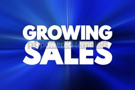 Business: Growing Sales text quote concept background #18458