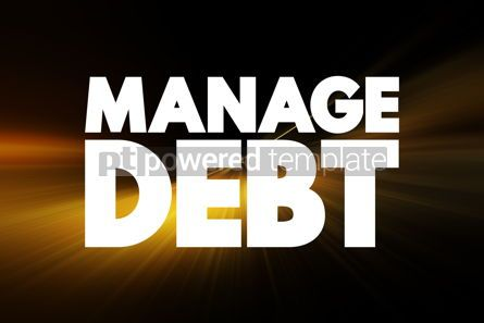 Business: Manage Debt text quote concept background #18463