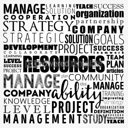 Business: RESOURCES word cloud collage business concept background #18466