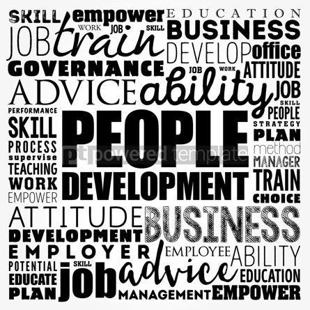 Business: People Development word cloud collage business concept backgrou #18467