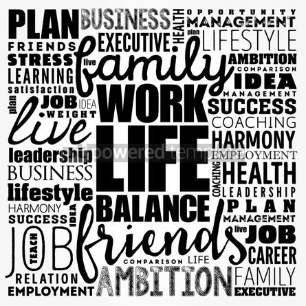Business: Work Life Balance word cloud collage concept background #18474