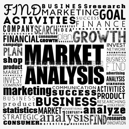 Business: Market Analysis word cloud collage business concept background #18476
