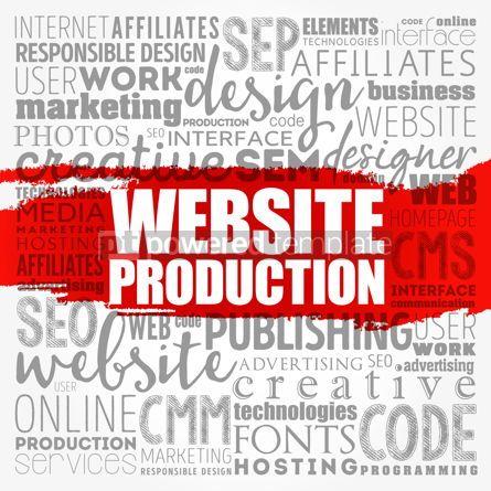 Business: Website production process word cloud technology concept backgr #18483