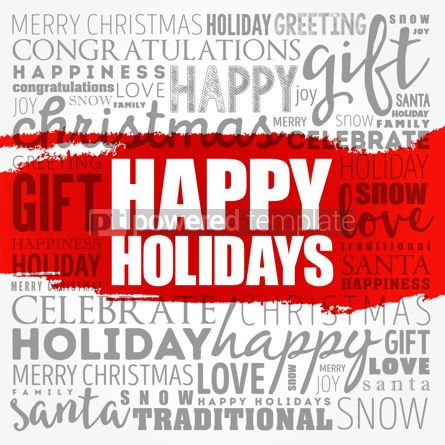 Business: Happy Holidays word cloud collage holiday concept background #18513