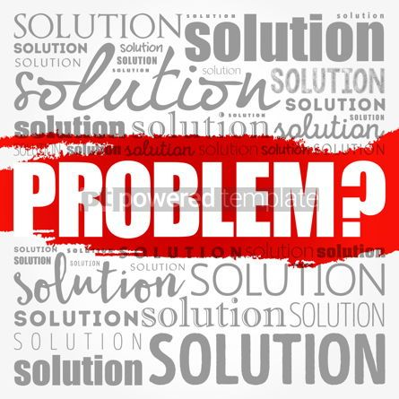 Business: Problem and solution word cloud collage business concept backgr #18538