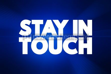 Business: Stay In Touch text quote concept background #18568