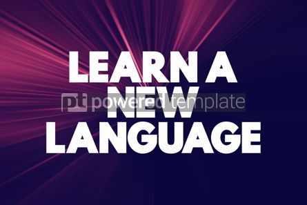 Business: Learn A New Language text quote concept background #18575