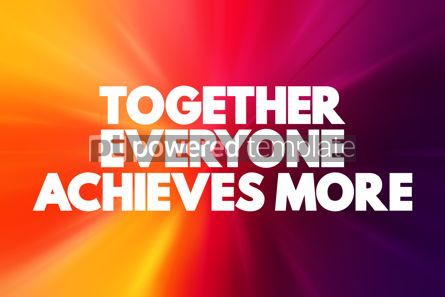 Business: Together Everyone Achieves More text quote concept background #18604