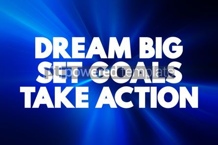 Business: Dream Big Set Goals Take Action text quote concept background #18616