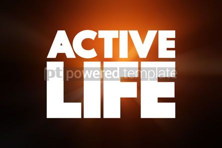 Business: Active Life text quote concept background #18631