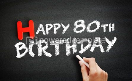 Business: Hand writing Happy 80th birthday on blackboard holiday concept #18683