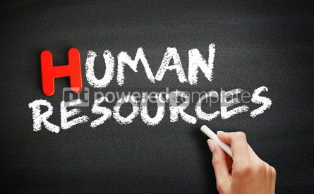 Business: Hand writing Human Resources on blackboard concept background #18686