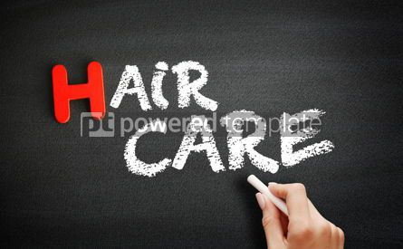 Business: Hand writing Hair care on blackboard concept background #18687