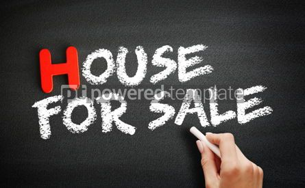 Business: Hand writing House For Sale on blackboard concept background #18693