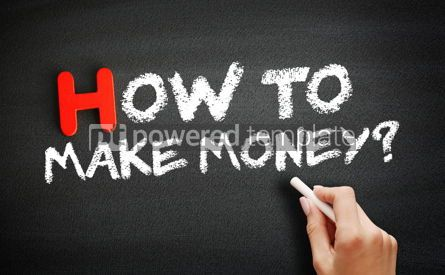 Business: Hand writing How To Make Money on blackboard concept backgroun #18697