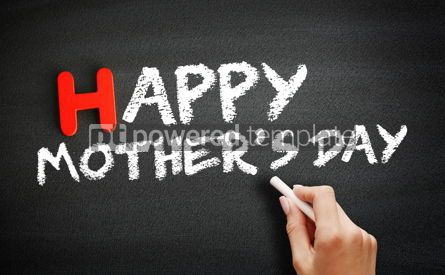 Business: Happy Mother's Day text on blackboard concept background #18701
