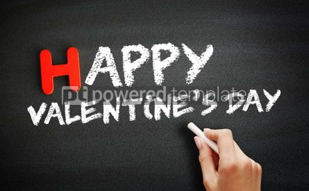 Business: Hand writing Happy Valentines Day on blackboard concept backgro #18702