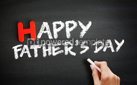 Business: Hand writing Happy Fathers Day on blackboard concept background #18705