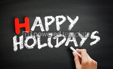 Business: Hand writing Happy Holidays on blackboard holiday concept backg #18721