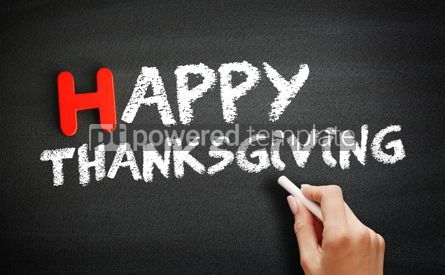 Business: Hand writing Happy Thanksgiving on blackboard concept #18724