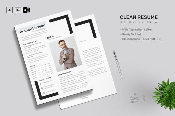 Careers/Industry: CV Resume Letter Template #09186
