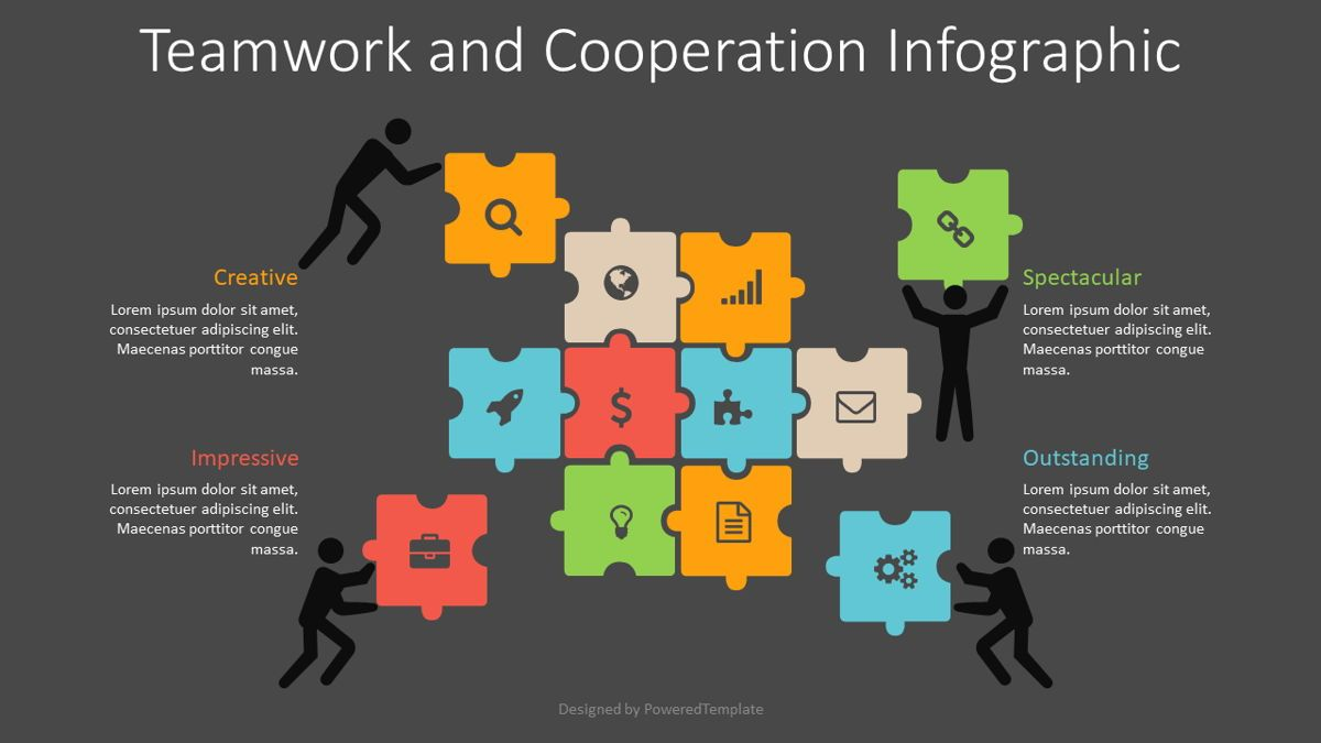 Teamwork and Cooperation Infographic, Slide 2, 08829, Business Concepts — PoweredTemplate.com