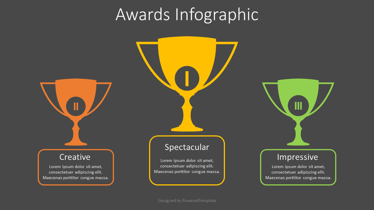 Three Trophy Cups Infographic, Slide 2, 08830, Business Concepts — PoweredTemplate.com