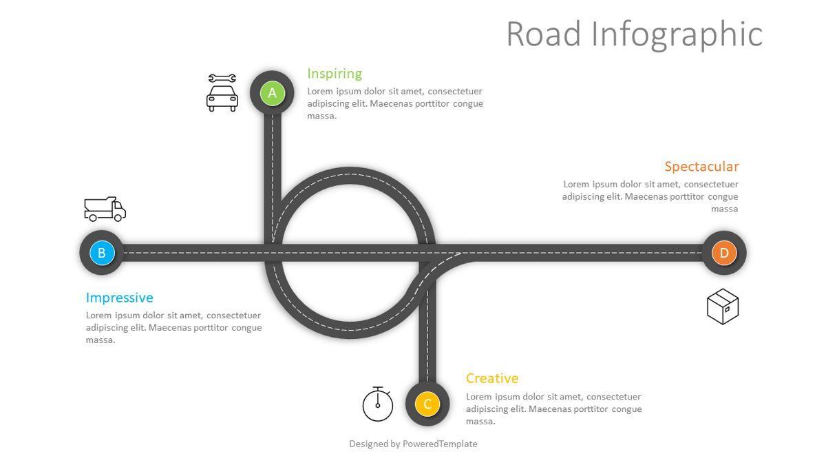 Road Junction Concept, 08831, Business Concepts — PoweredTemplate.com