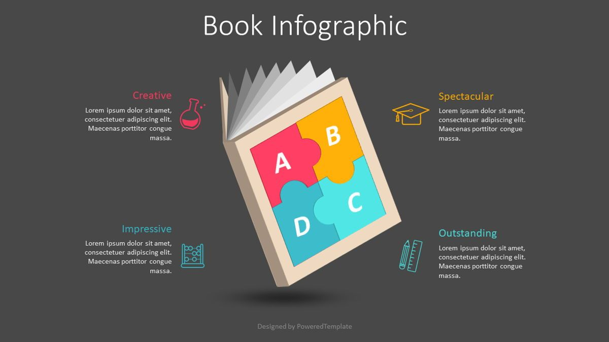 Puzzle Book Cover Infographic, 08833, Education & Training — PoweredTemplate.com