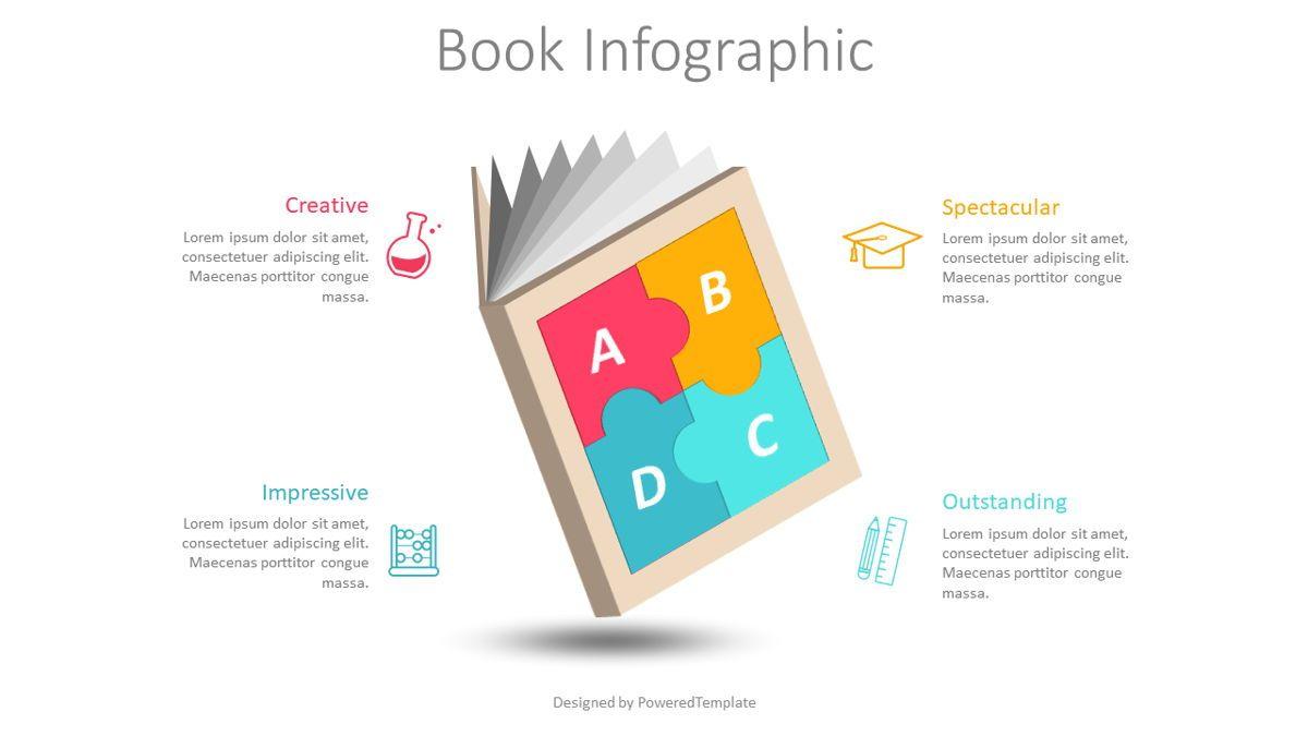 Puzzle Book Cover Infographic, Slide 2, 08833, Education & Training — PoweredTemplate.com