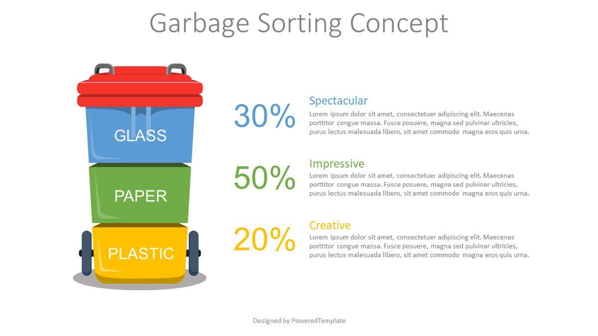 Garbage Sorting Concept, 08835, Infographics — PoweredTemplate.com