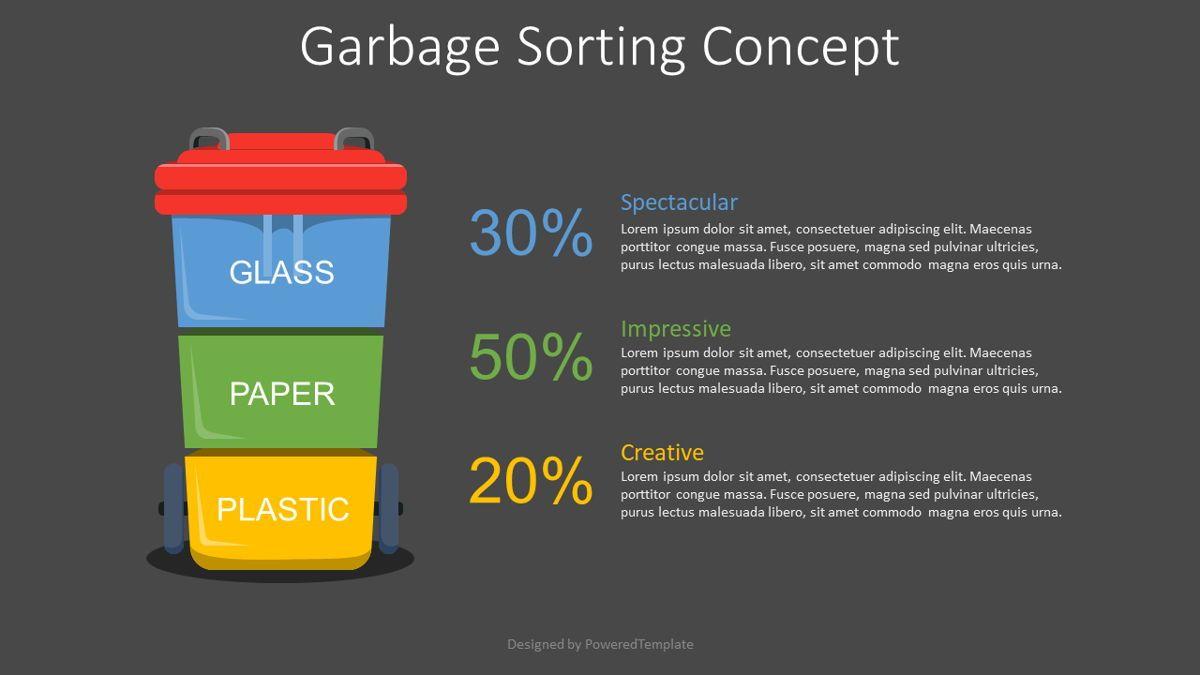 Garbage Sorting Concept, Slide 2, 08835, Infographics — PoweredTemplate.com