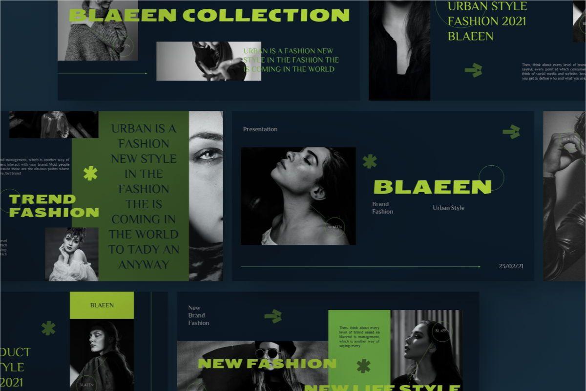 BLAEEN - Brand Keynote Template, 08846, Business — PoweredTemplate.com