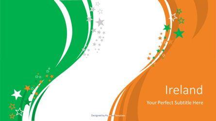 Flags/International: Festive Flag of Ireland #08855