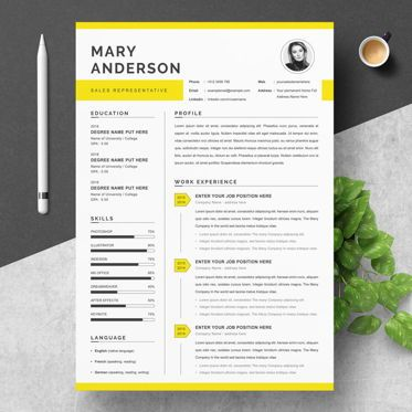 Careers/Industry: Sales Representative Resume Template #09228