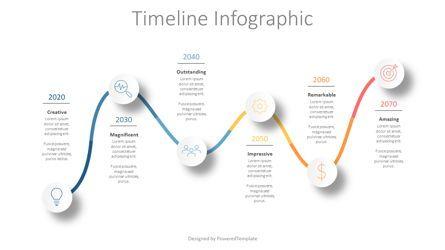 Timelines & Calendars: Modern Timeline Infographics #08860